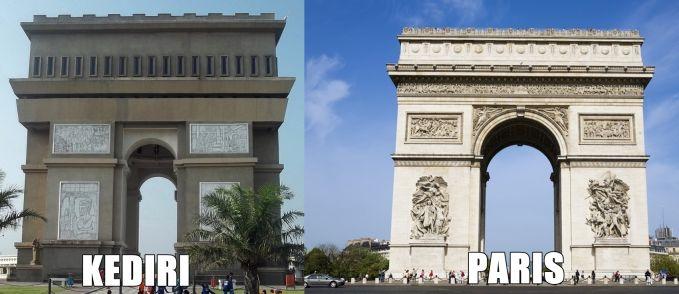 Arc de Triomphe vs SLG (Simpang Lima Gumul)