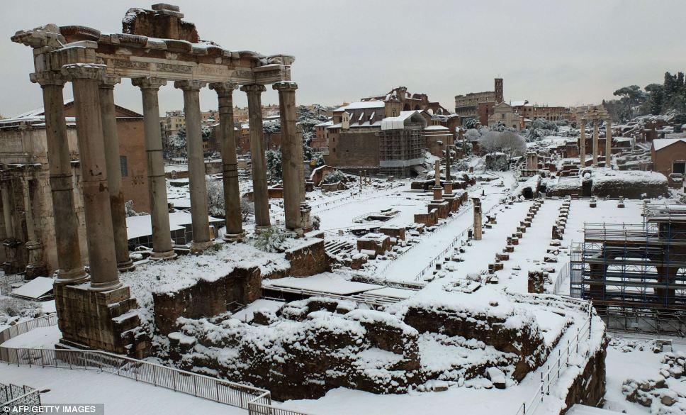 Roman Forum in winter