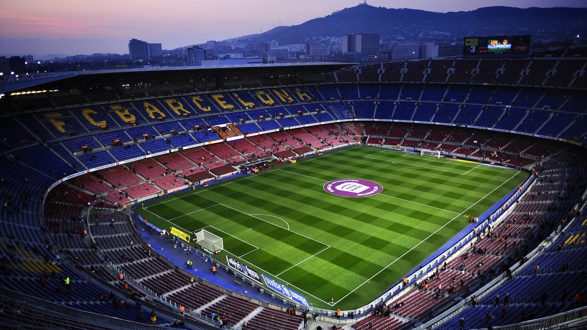 Hasil gambar untuk stadion barcelona