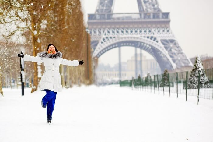 Paris saat winter